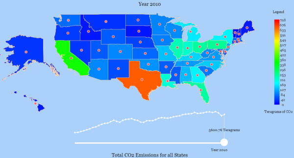 Emissions by state. Click to see the interactive version.